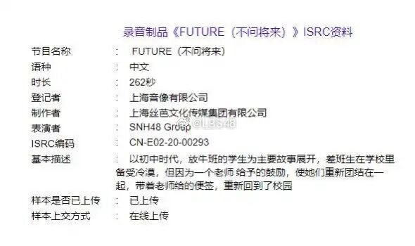 Future (SNH48 7th General Election Under Girls or Next Girls Song)