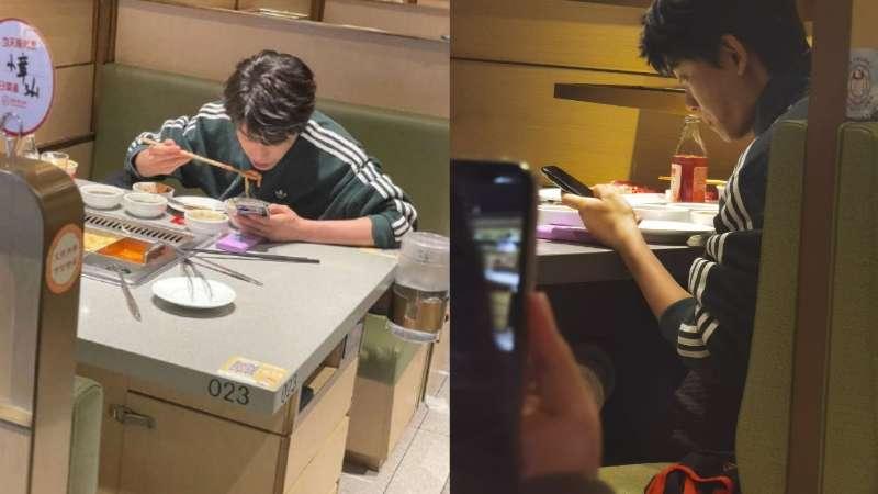 ryan ding yuxi eating hotpot