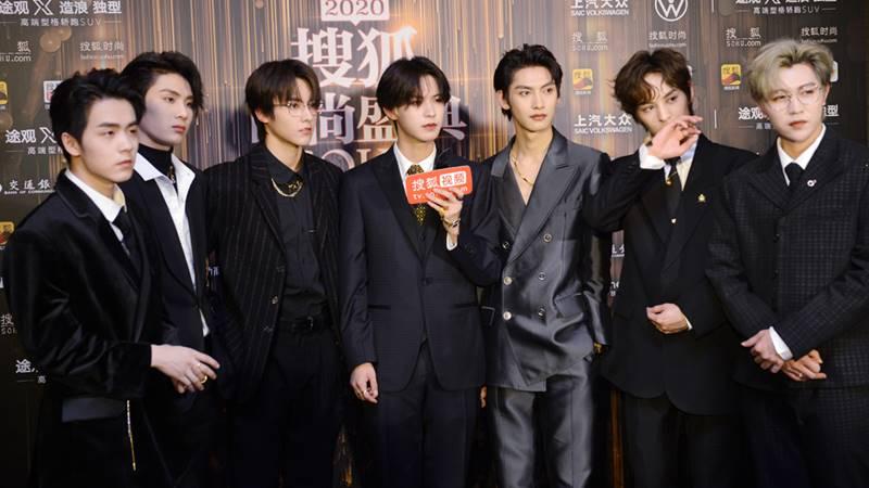 s.k.y boy grup sohu fashion festival 2020