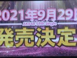 AKB48 Akan Rilis Single ke-58 dengan Susunan Senbatsu Hanya Member AKB48 Saja