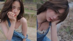 ouyang nana didnt wearing bra
