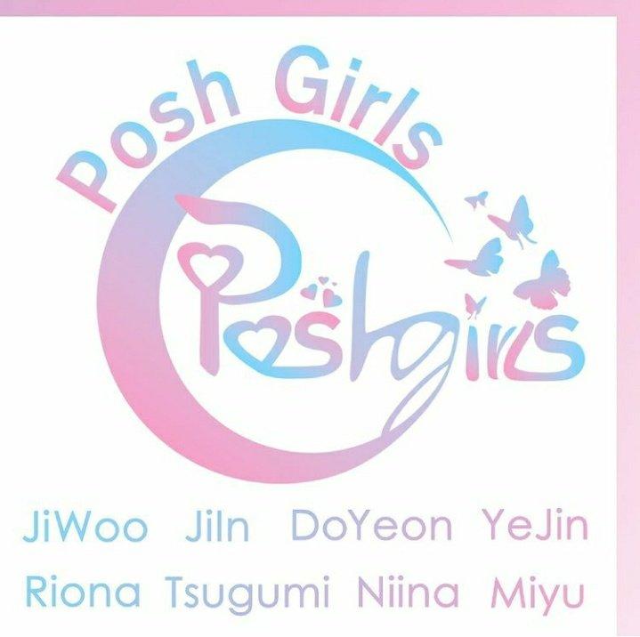 'Posh Girls' Official Logo & Name Tag Members
