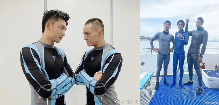 johnny huang with men