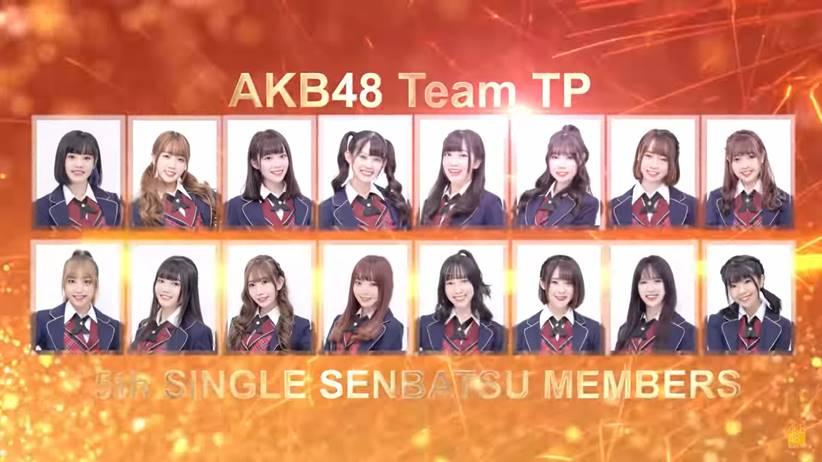 AKb48 Team TP original single senbatsu members