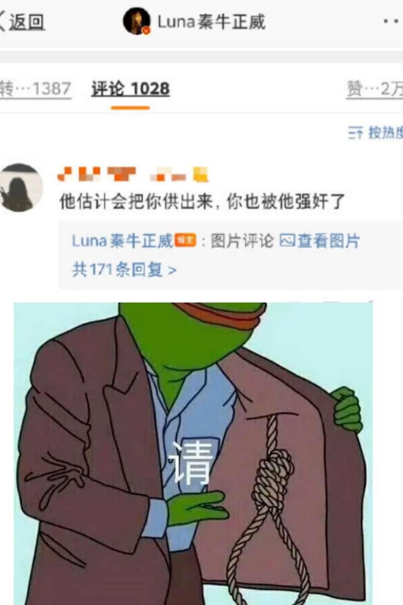 luna qin reponds bad netizen