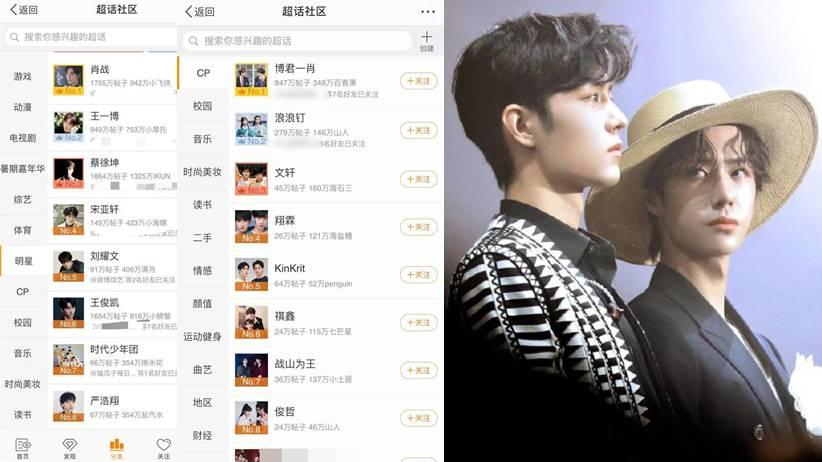 weibo cp celebrity ranking