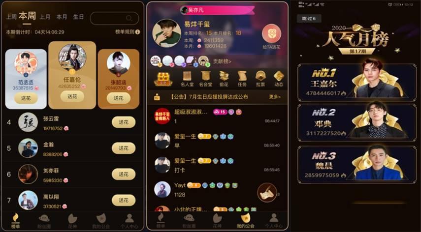 aplikasi china idol coming ranking artis
