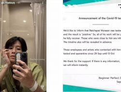 Prom Ratchapat Terkonfirmasi Positif Covid-19, Syuting Drama 'Love Mechanics' Terpaksa Ditunda